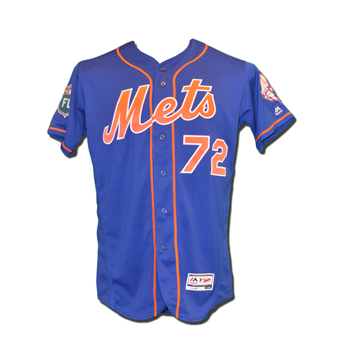 Photo of Gavin Cecchini #72 - Team Issued Spring Training Jersey - 2016 Spring Training