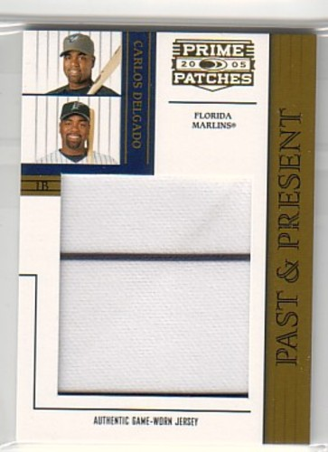 Photo of 2005 Prime Patches Past and Present Jumbo Swatch #4 Carlos Delgado/198
