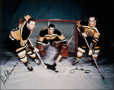 FERN FLAMAN & JIM MORRISON Boston Bruins Dual SIGNED 11x14 Photo