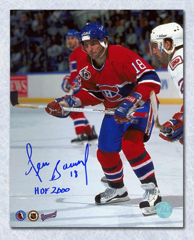 Denis Savard Montreal Canadiens Autographed Game Action 8x10 Photo
