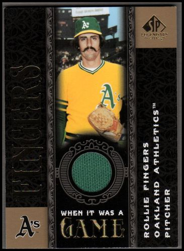 Photo of 2007 SP Legendary Cuts When it Was a Game Memorabilia #RF Rollie Fingers