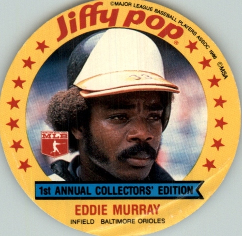 Photo of 1986 MSA Jiffy Pop Discs #10 Eddie Murray