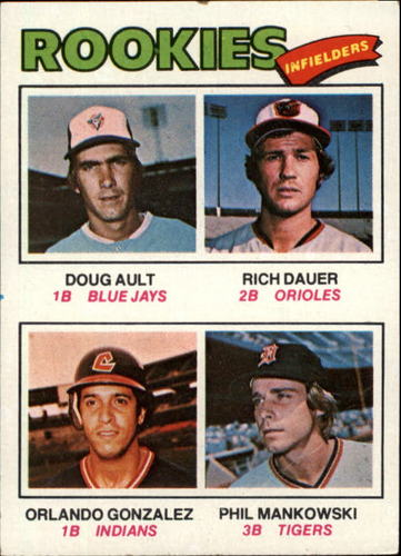 Photo of 1977 Topps #477 Rookie Infielders/Doug Ault RC/Rich Dauer RC/Orlando Gonzalez RC/Phil Mankowski RC