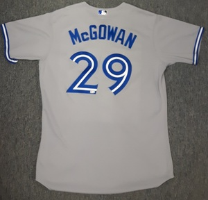 Toronto Blue Jays Authenticated Team Issued 2013 Jersey - #29 Dustin McGowan