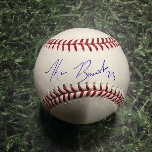 Photo of Keon Broxton Autographed Baseball