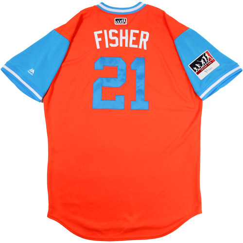 "Photo of Derek ""Fisher"" Fisher Houston Astros Game-Used Players Weekend Jersey"