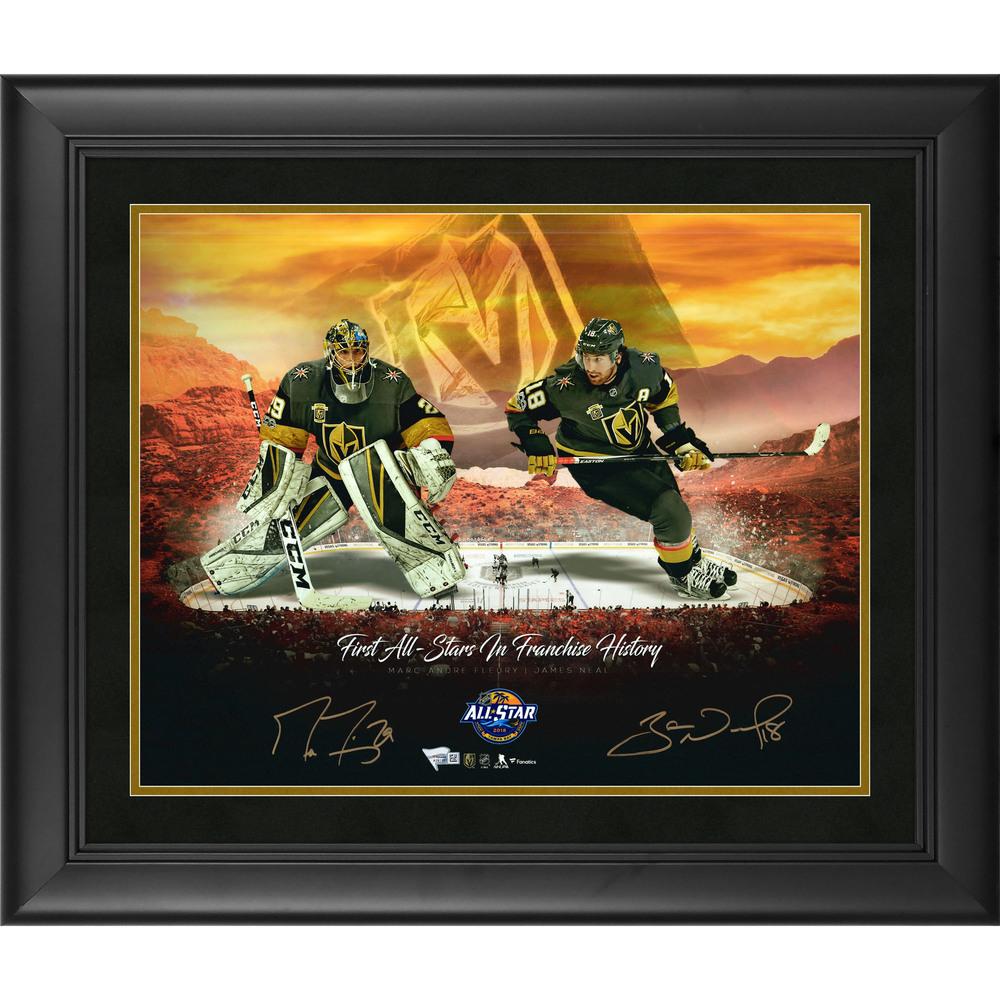Marc-Andre Fleury & James Neal Vegas Golden Knights Framed Autographed 16