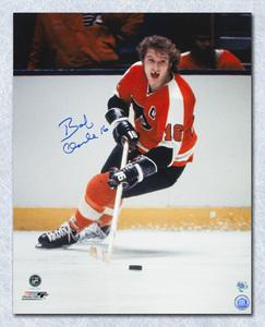 Bobby Clarke Philadelphia Flyers Autographed Toothless Action 16x20 Photo