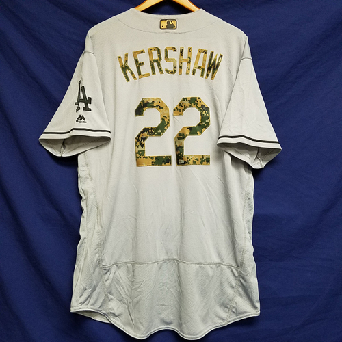 Photo of Clayton Kershaw 2016 Game-Used Road Memorial Day Jersey