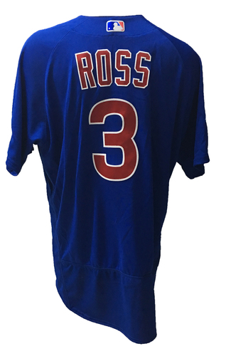 Photo of David Ross Game-Used Jersey -- 2016 World Champion Season -- NLDS Game 3 -- Cubs vs Giants -- 10/10/16