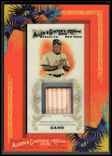 Photo of 2010 Topps Allen and Ginter Relics #RC Robinson Cano