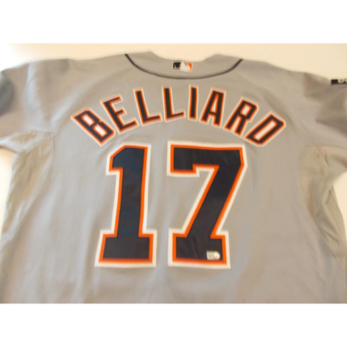 Game-Used Rafael Belliard Road Jersey: 2011 ALCS Game 6