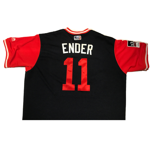 "Photo of Ender ""Ender"" Inciarte Atlanta Braves Game-Used Players Weekend Jersey"