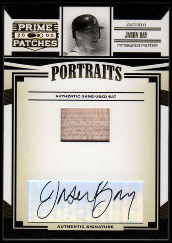 Photo of 2005 Prime Patches Portraits Autograph Bat #77 Jason Bay/150