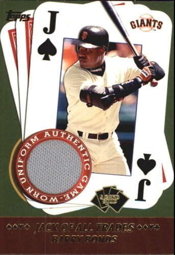 Photo of 2002 Topps 5-Card Stud Jack of All Trades Relics #5JBB Barry Bonds A