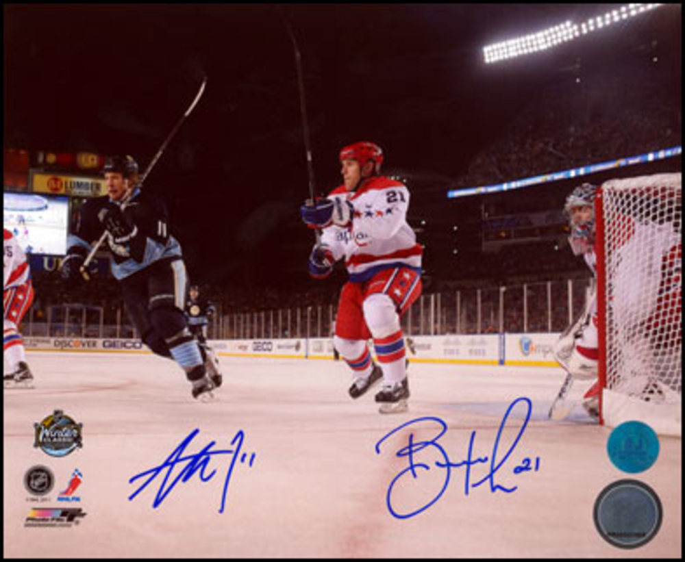 JORDAN STAAL vs BROOKS LAICH Dual SIGNED 8x10 Photo Winter Classic Photo