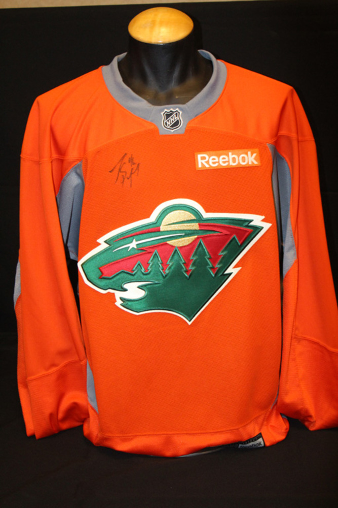 #46 Jared Spuregon Autographed Blaze Orange Wild Jersey