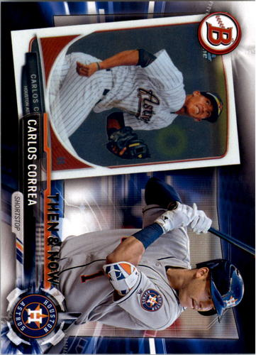 Photo of 2017 Topps Bowman Then and Now #BOWMAN18 Carlos Correa