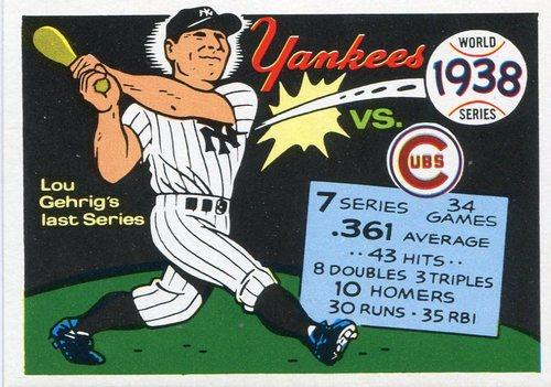 Photo of 1970 Fleer Laughlin World Series Blue Backs #35 1938 Yankees/Cubs/(Lou Gehrig)