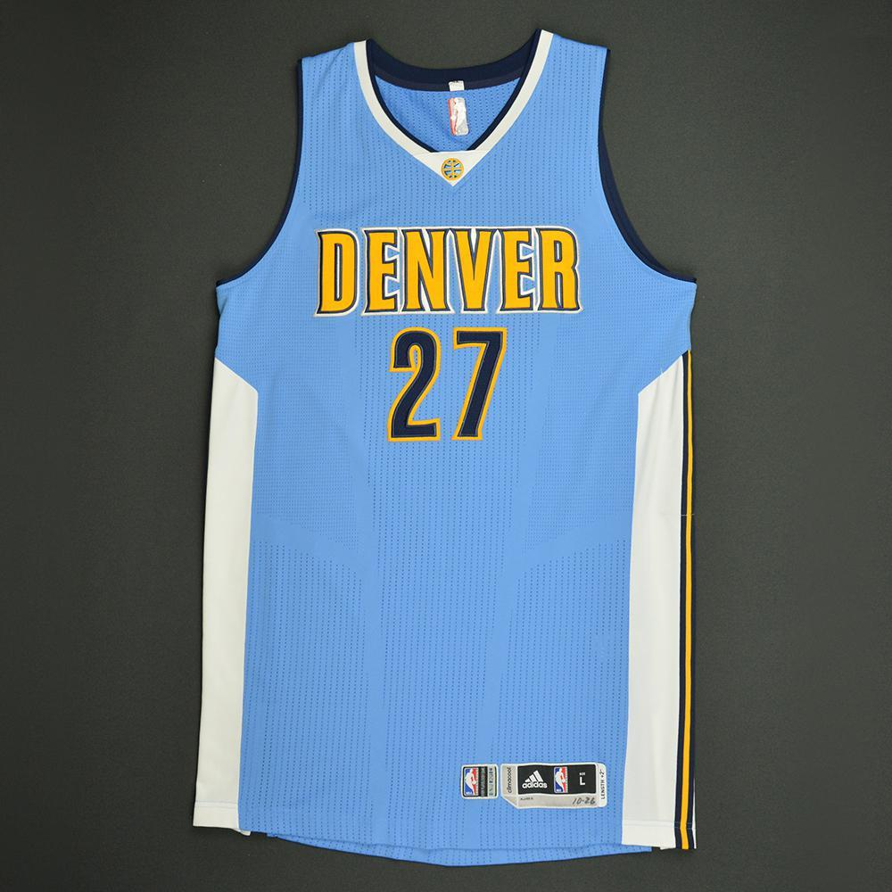 Jamal Murray - Denver Nuggets - Game-Worn Rookie Debut Jersey - 2016-17 Season