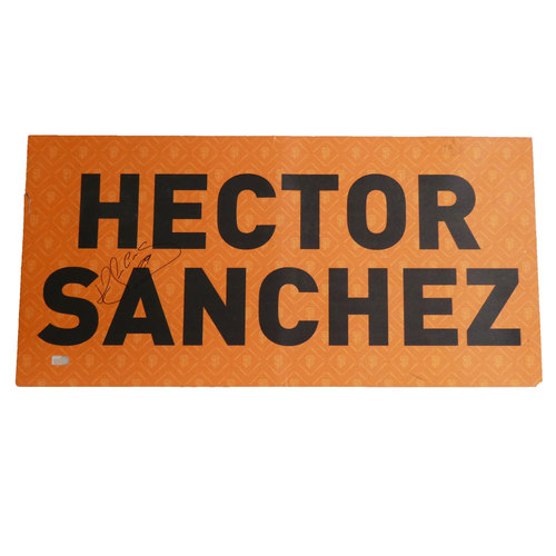 Photo of San Francisco Giants - 2012 World Series Parade Car Magnet - Hector Sanchez (Autographed)