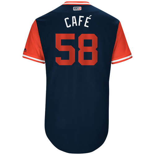"""Photo of Jose """"Café"""" Martinez St. Louis Cardinals Game-Used Players Weekend Jersey"""
