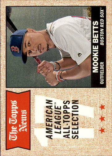 Photo of 2017 Topps Heritage #362 Mookie Betts -- Red Sox post-season