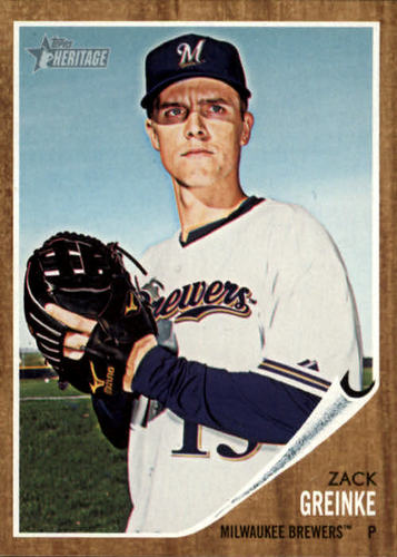 Photo of 2011 Topps Heritage #342 Zack Greinke -- D'backs post-season