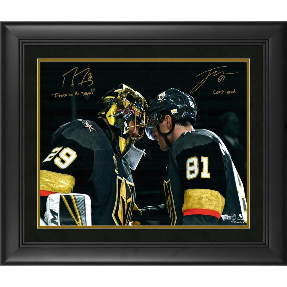 Marc-Andre Fleury & Jonathan Marchessault Vegas Golden Knights Framed Autographed 16
