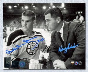Bobby Orr & Harry Sinden Boston Bruins Dual Signed Rookie 8x10 Photo