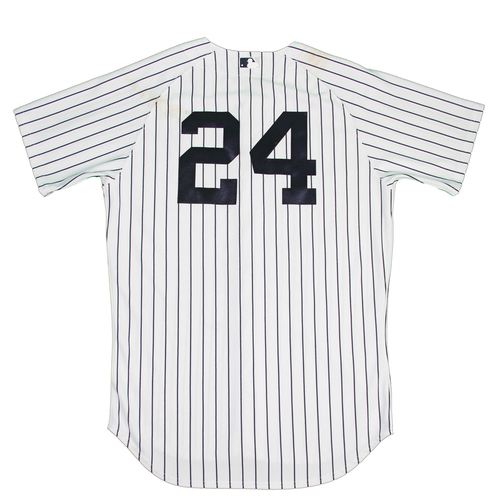 Photo of Chris Young Jersey - NY Yankees 2015 Opening Day Game-Used #24 Pinstripe Jersey