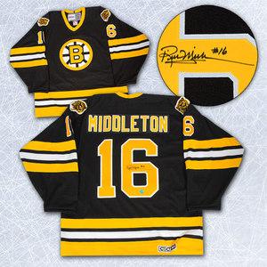 Rick Middleton Boston Bruins Autographed Retro CCM Hockey Jersey