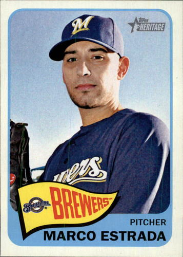 Photo of 2014 Topps Heritage #304 Marco Estrada