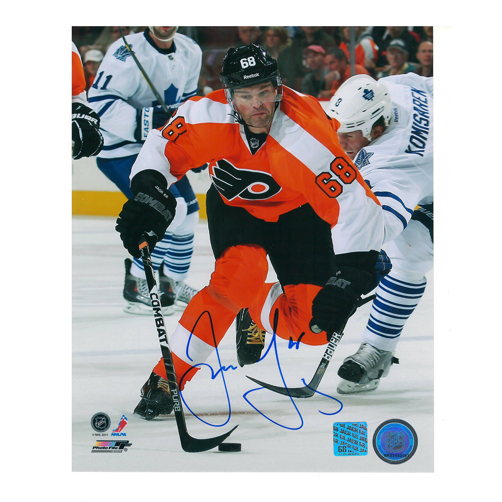 JAROMIR JAGR Signed Philadelphia Flyers 8 X 10 Photo - 70136