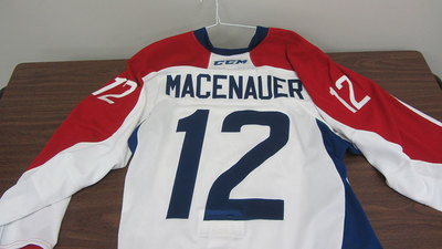 AHL GAME ISSUED THIRD JERSEY MAXIME MACENAUER JERSEY