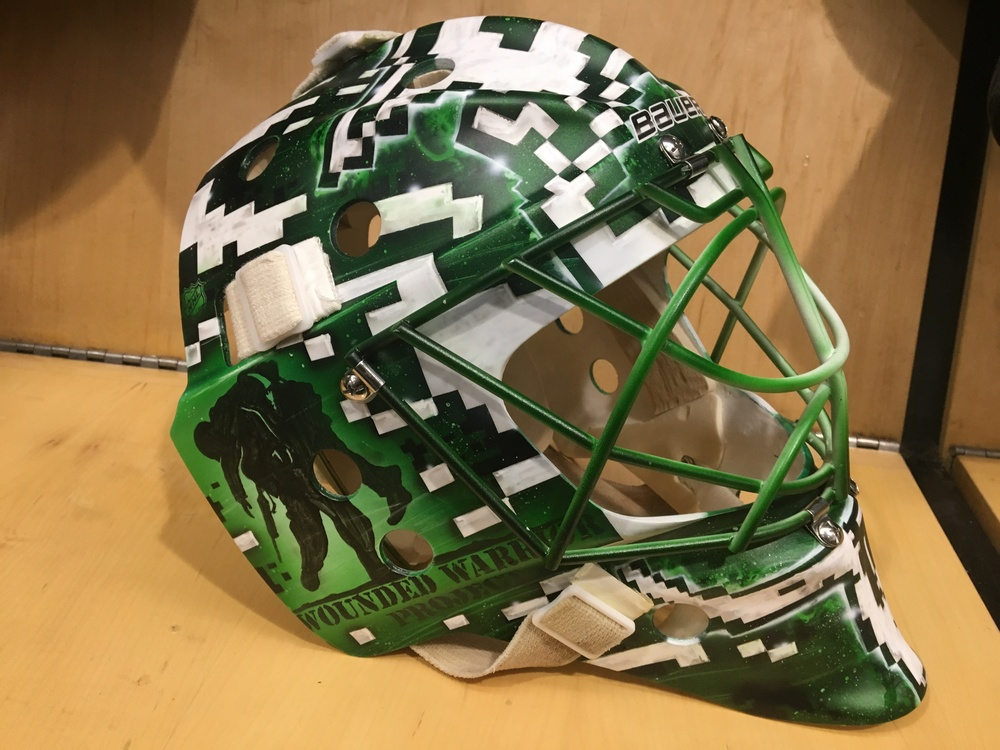 Dallas Stars, Kari Lehtonen, in game worn goalie mask