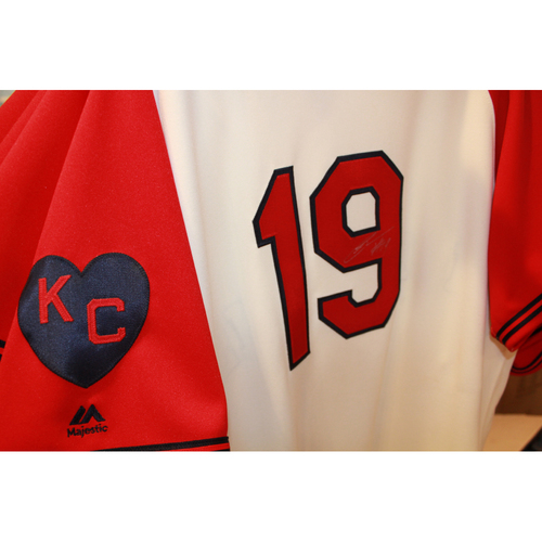 Cheslor Cuthbert Autographed Game-Used Kansas City Monarchs Jersey (5/7/2017) (Size 48)
