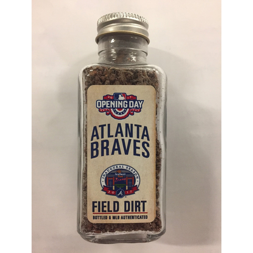 Photo of Game-Used Dirt Jar from Opening Day at SunTrust Park