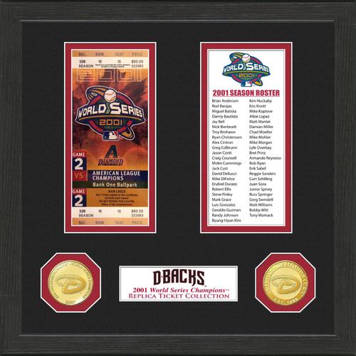 Photo of Arizona Diamondbacks World Series Ticket Collection