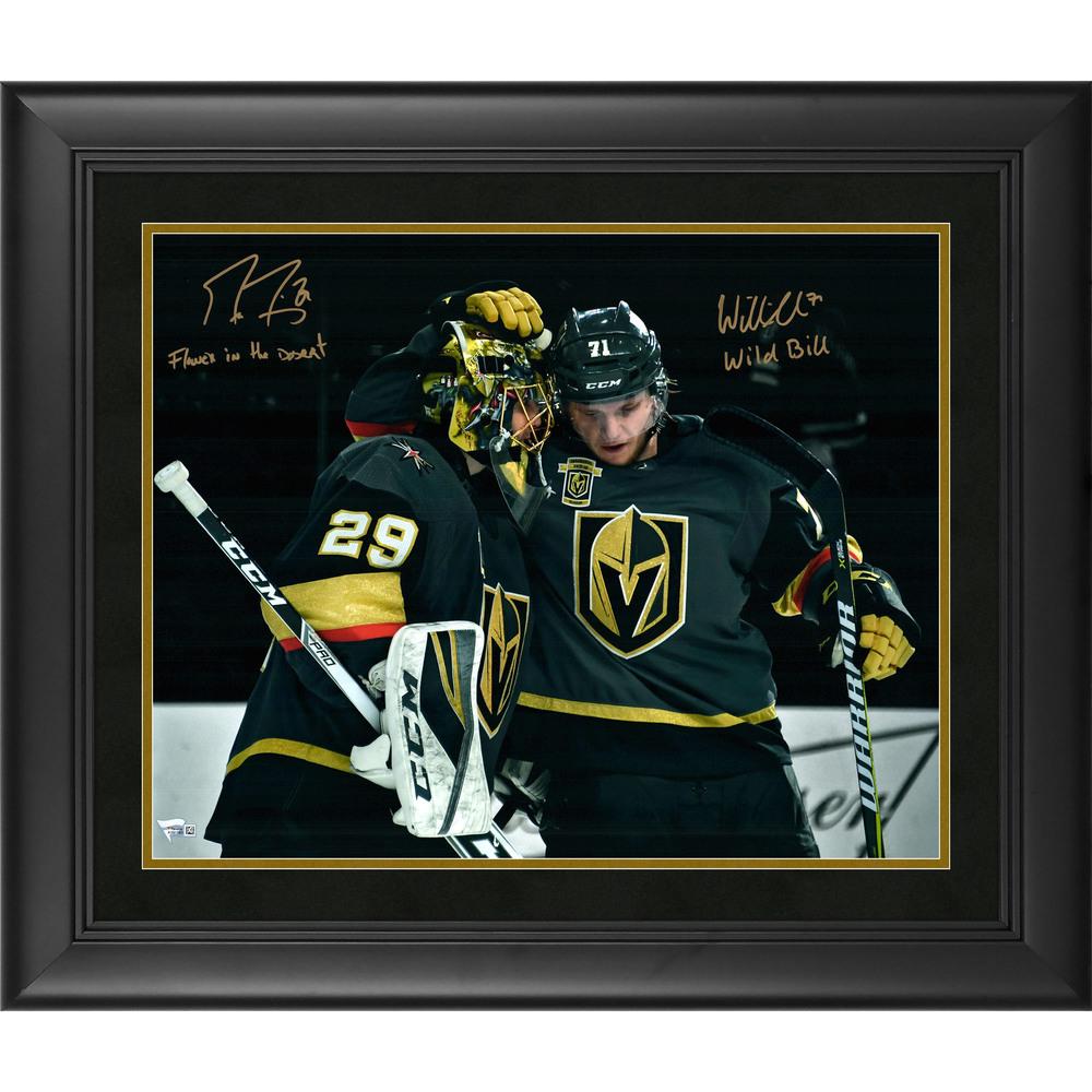 Marc-Andre Fleury & William Karlsson Vegas Golden Knights Framed Autographed 16