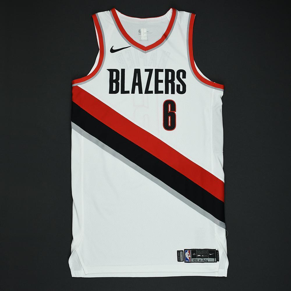 Shabazz Napier - Portland Trail Blazers - 2018 NBA Playoffs Game-Worn Jersey