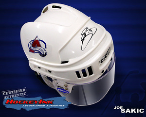JOE SAKIC Signed Colorado Avalanche Full Size CCM Helmet