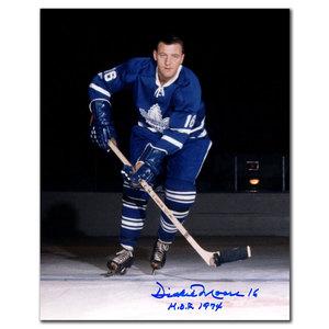 Dickie Moore Toronto Maple Leafs HOF Autographed 8x10