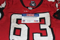 NFL INTERNATIONAL SERIES - JUSTIN BLALOCK GAME WORN FALCONS JERSEY (OCTOBER 26 2014)