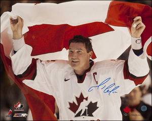 Mario Lemieux Team Canada Autographed 2002 Olympic Hockey Victory 16x20 Photo *Pittsburgh Penguins*
