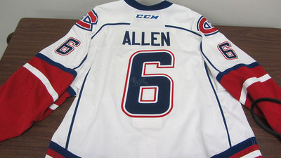 AHL WHITE GAME ISSUED BRYAN ALLEN JERSEY