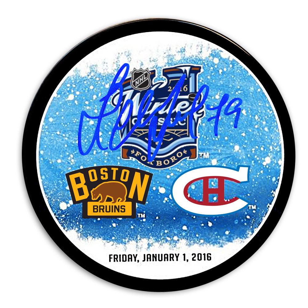 Andrei Markov 2016 Winter Classic Dueling Autographed Puck Montreal Canadiens