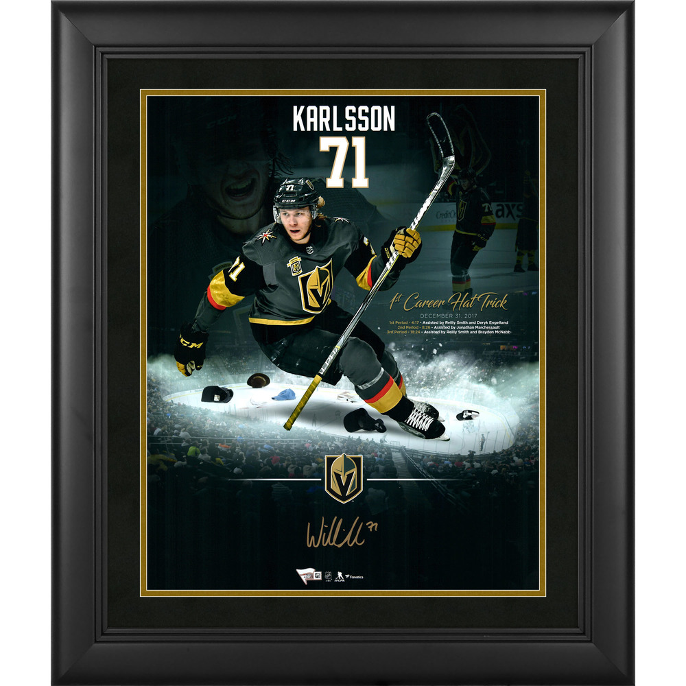 William Karlsson Vegas Golden Knights Framed Autographed 16