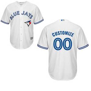 Toronto Blue Jays Youth Customizable Cool Base Replica Home Jersey by Majestic