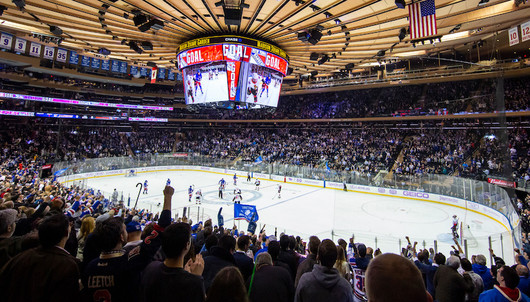 NEW YORK RANGERS HOCKEY GAME: 3/16 NY RANGERS VS. CALGARY (2 SECTION 110 TICKETS) ...
